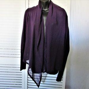 Gap purple cardigan with chiffon medium